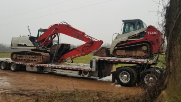 Excavator transport in Washington