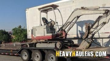 Shipping a Takeuchi excavator