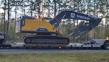 Shipping a Volvo excavator