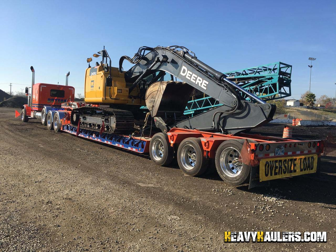 Excavator Shipping Services Heavy Haulers 800 908 6206