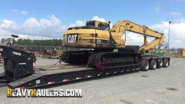 1994 Caterpillar 320L Long Reach Excavator In Transport