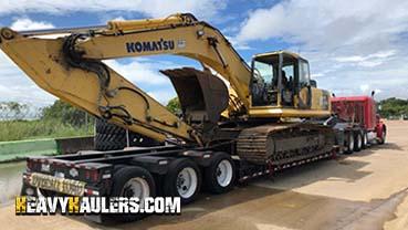 Komatsu PC300 Excavator In Transport