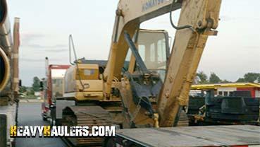 2013 Komatsu PC160 Excavator In Transport