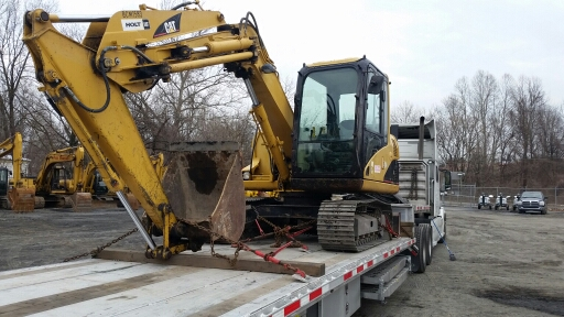 Shipping an excavator in Massachusetts