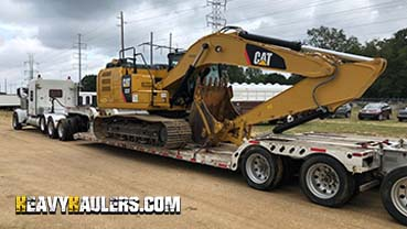 Caterpillar 323 Excavator In Transport