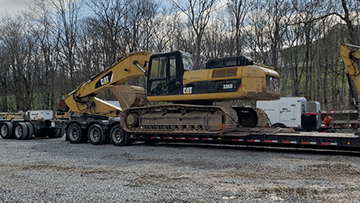 Transporting Caterpillar 336DL Hydraulic Excavator
