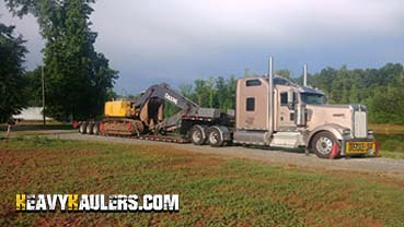 Excavator transport in Louisiana