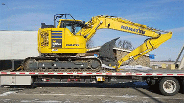 Hauling an excavator in Kentucky