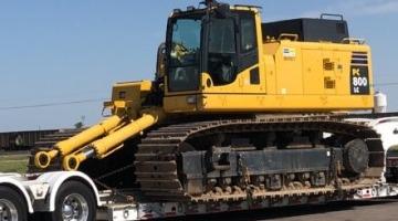 Excavator shipped in South Dakota