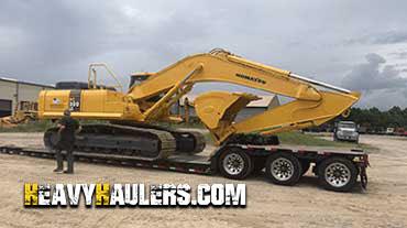 Transporting an excavator in Utah