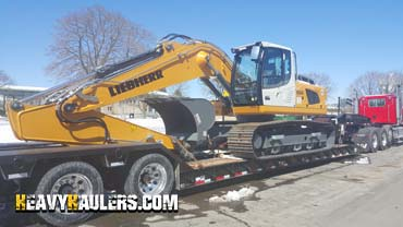 Shipping an excavator in New Hampshire