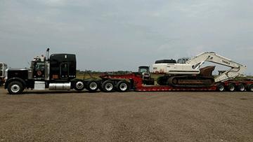 Transporting a Terex TXC 340 LC2 Hydraulic Excavator