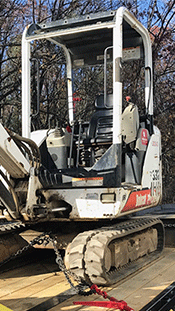 Shipping a Bobcat Excavator