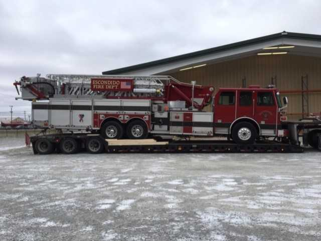 shipping a fire truck with heavy haulers