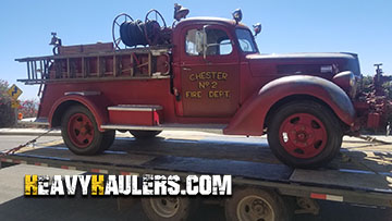 Shipping a antique 1940 ford fire truck