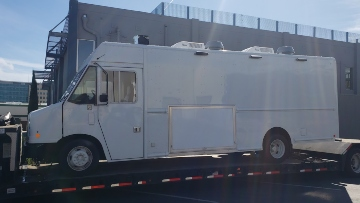 Hauling a food truck in California