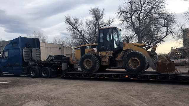 Transport of Caterpillar 950G Wheel Loader