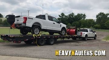 2018 Ford F-250 truck shipped on a hotshot trailer