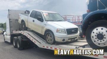 Tandem Axle Dump Truck transported on a hotshot trailer