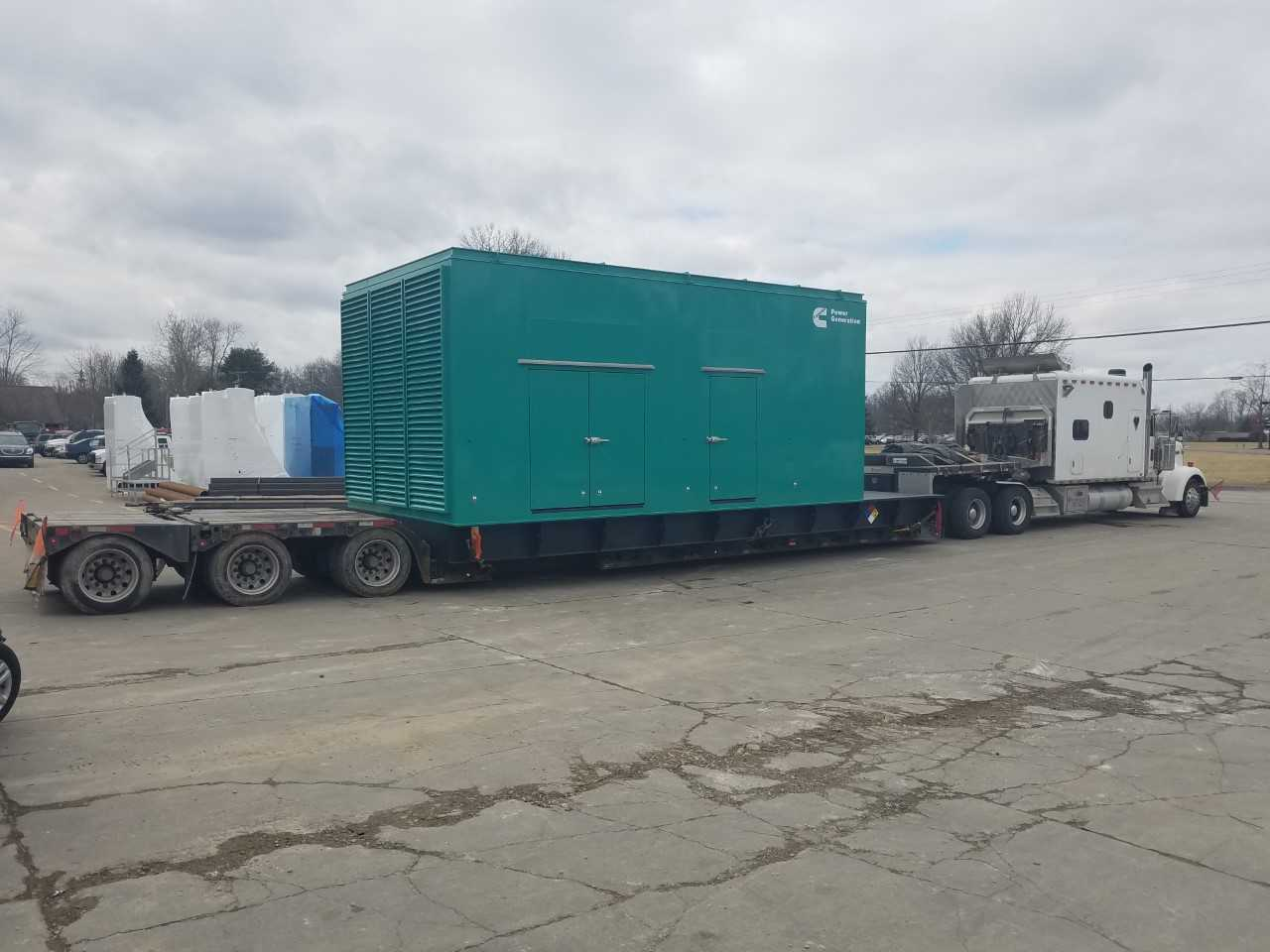 loading a backup generator before transport
