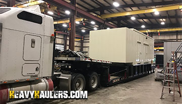 Shipping a standby generator with Heavy Haulers