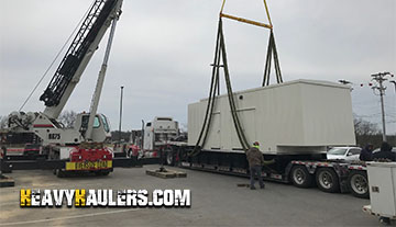 Transporting a standby generator with Heavy Haulers