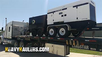 Wacker G-125 Generator Tranportation Service