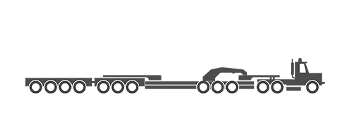 13 Axle trailer illustration