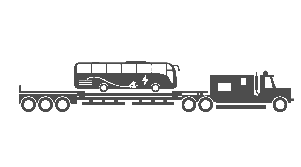 Electric Bus Illustration