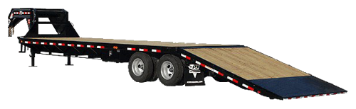 Hot Shot trailers shipping services illustration