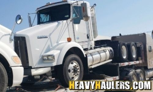 2013 Kenworth T800 daycab shipped from TX on a stepdeck trailer