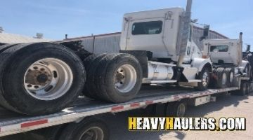 Kenworth Day Cabs service truck shipped on a stepdeck trailer