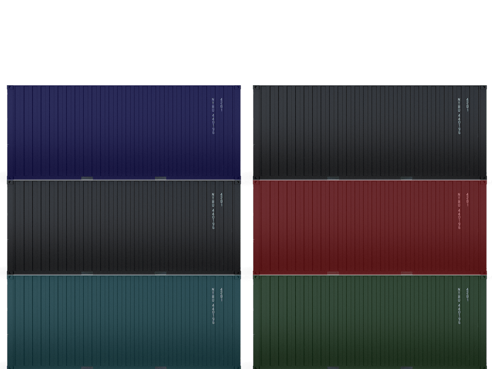 Containers stacked on top of eachother illustration
