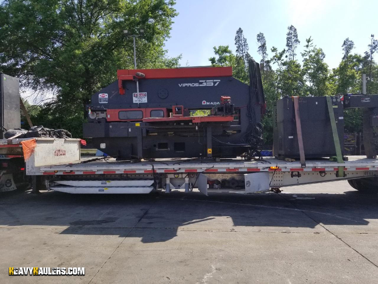 A turret press being shipped