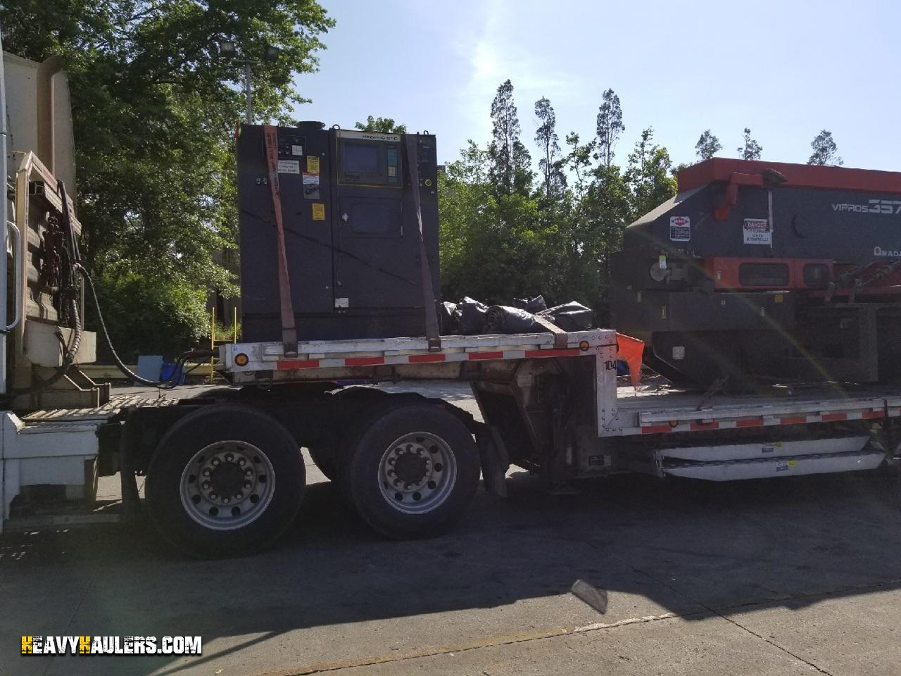 A turret press being transported