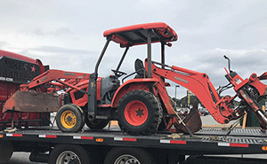 Kubota Backhoe Shipping