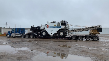 Roadtech SB2500B Hauled On Our Trailer