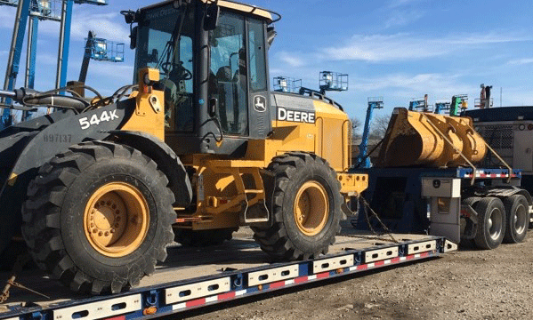 John Deere Wheel Loader being Shipped