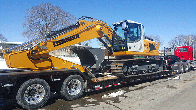 Liebherr Excavator being Shipped