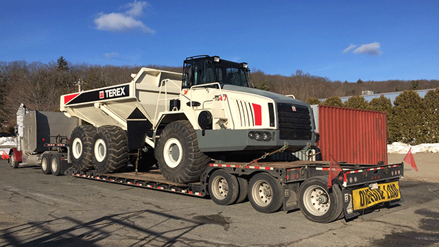 Terex Dump Truck being Hauled