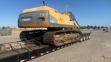 Volvo EC360 Shipped On Trailer