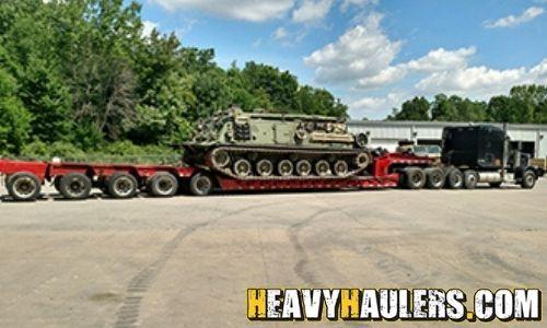 Hauling US Army Tank