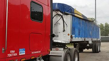 Transporting a Travis Aluminum End Dump Trailer