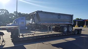 Transporting a Dump Trailer