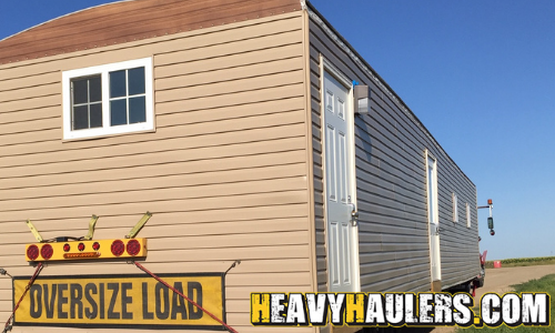 Shipping an oversize mobile home.