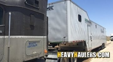 5th wheel trailer transported to TX using our power-only service