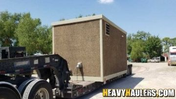 15,000lb Mobile Office Shipped to IL on an RGN Trailer