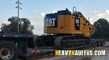 shipping an oversize CAT excavator.
