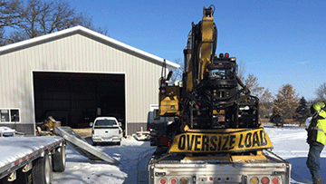 Shipping a Caterpillar 312DL Hydraulic Excavator