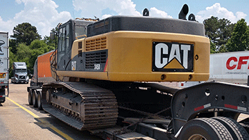 Shipping a Caterpillar 345D Hydraulic Excavator